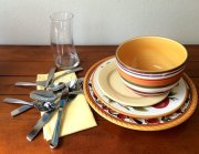 Dishes and utensils for setting your table