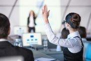 Woman Raises Her Hand to Speak