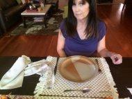 Napkin thrown on table
