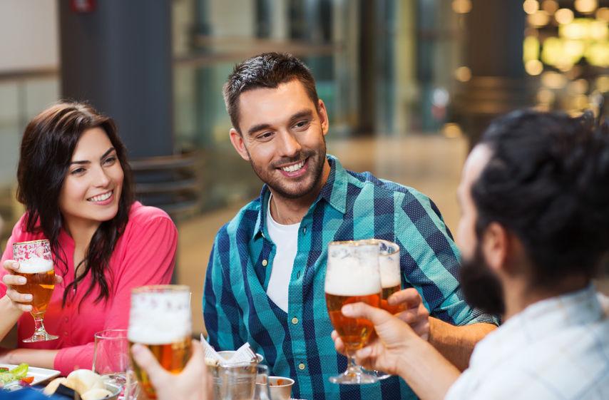 Friends in a Bar