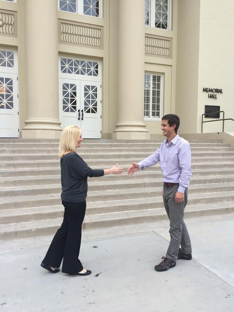 Greeting handshake