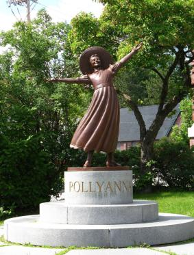 Pollyanna Statue in Littleton, NH