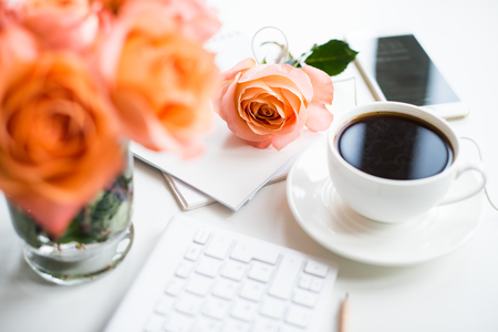 Roses and Coffee at Work