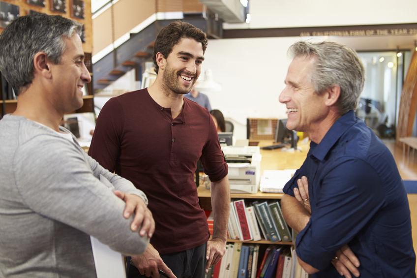 Three Men Talking