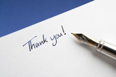Writing thank-you notes