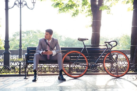 Businessman on a Park Bench