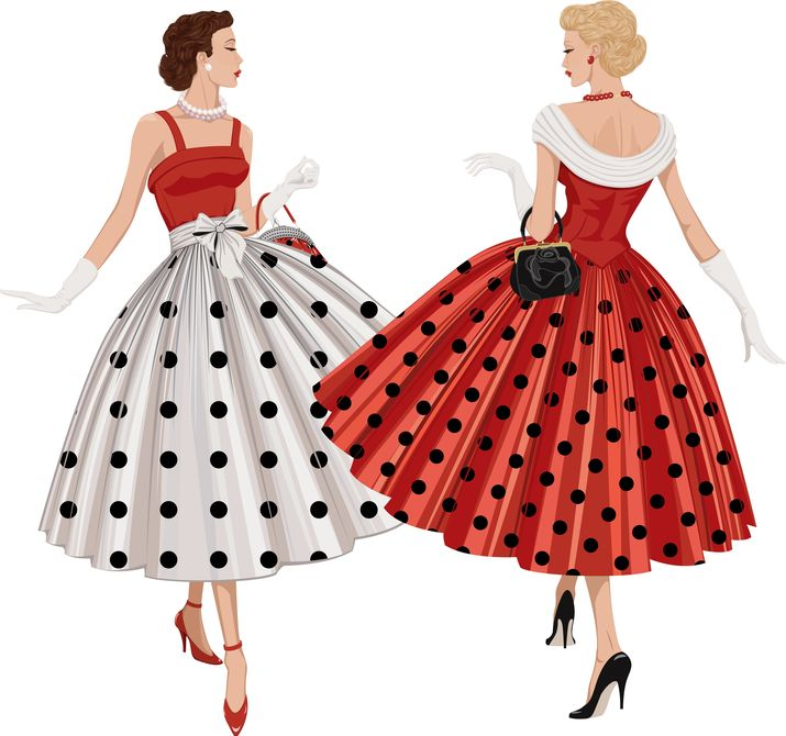 Women Inspecting Dresses