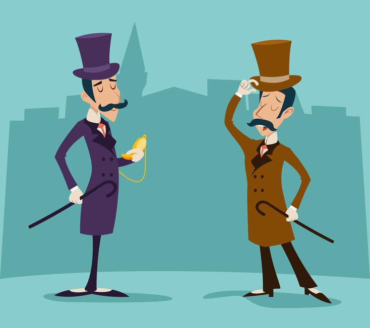 Gentleman Tipping His Hat