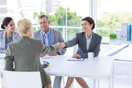 Interview panel with an applicant