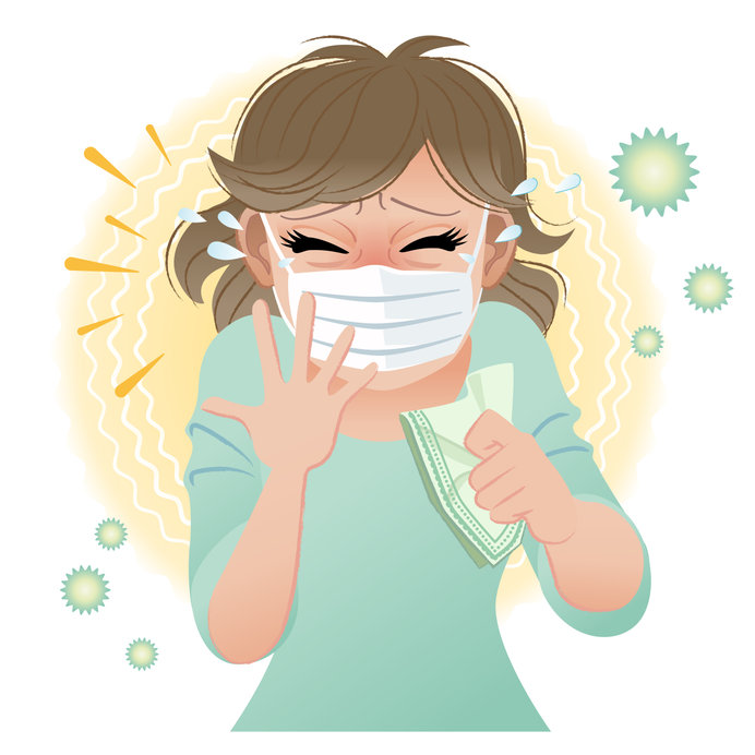 Sneezing Into a Mask