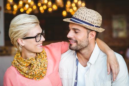 Couple Making Eye Contact
