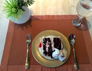 Dessert Spoon and Fork