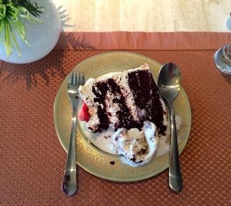 Dessert utensils resting
