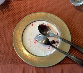Dessert finished