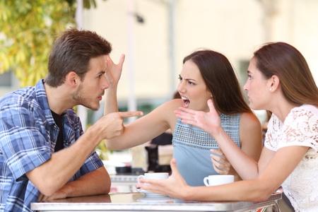 Friends Arguing