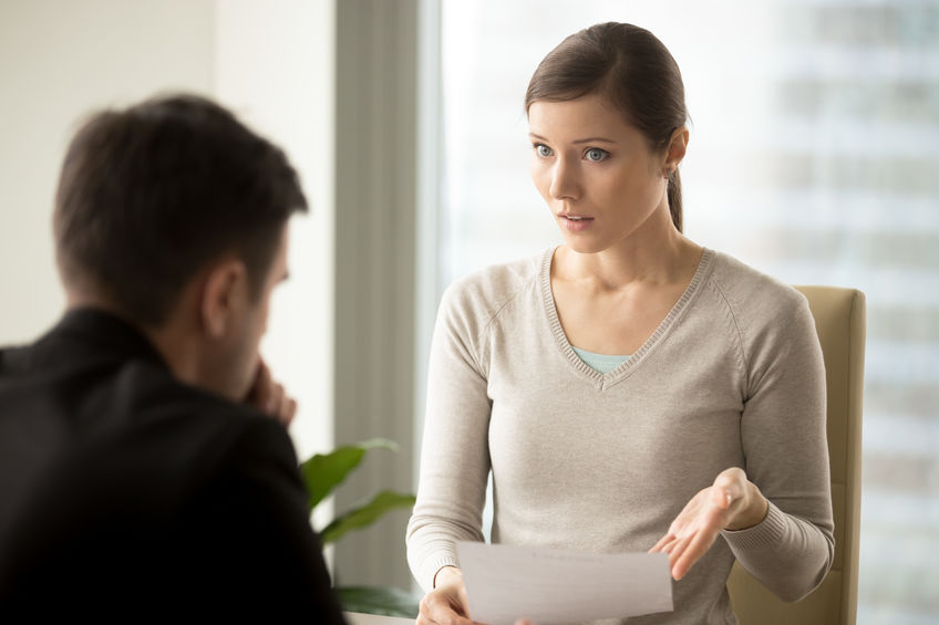 Woman Insisting on Paperwork Revisions